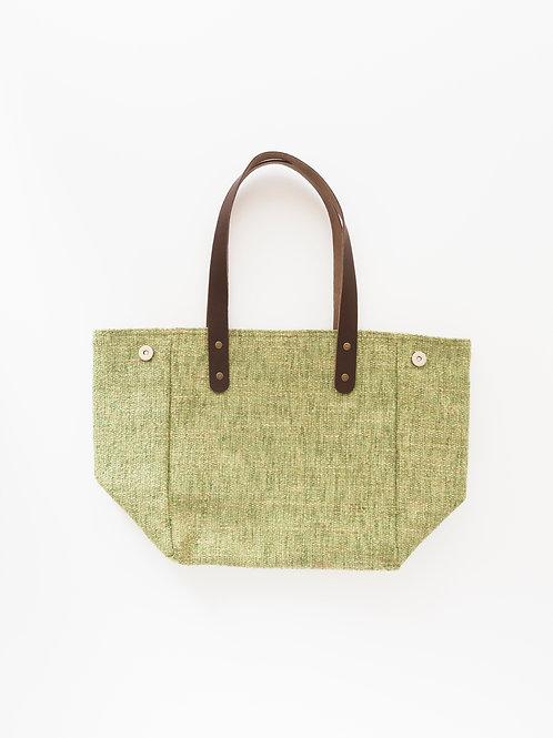 Linen look handbag