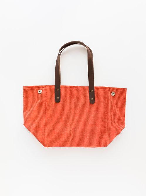 Ribbed velvet handbag