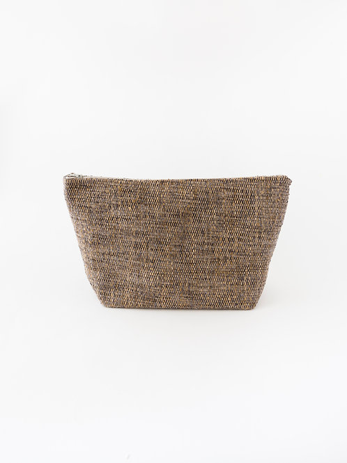 Linen look toiletry bag