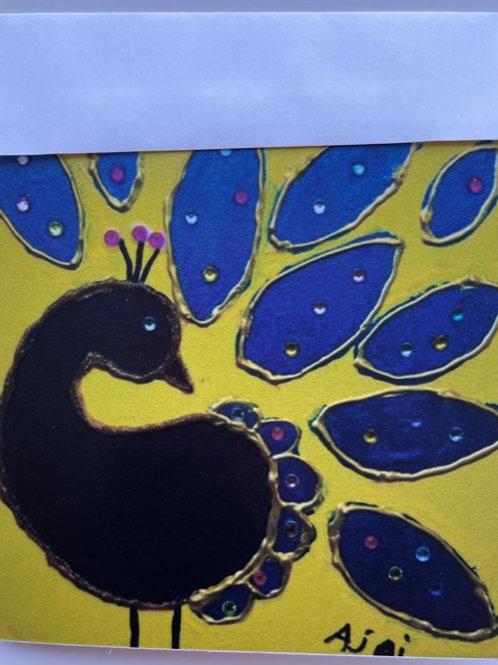 """Pretty Peacock"" card"