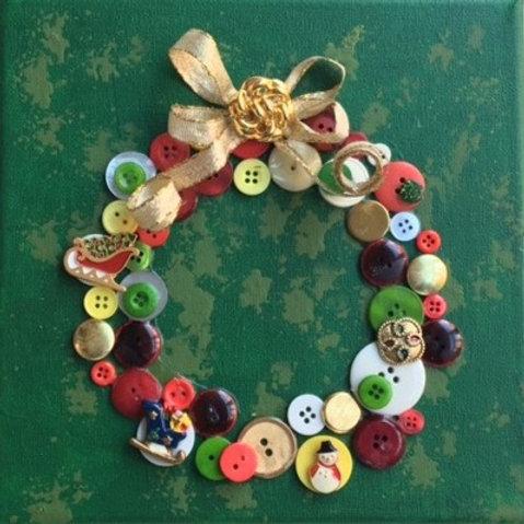 Buttons Wreath