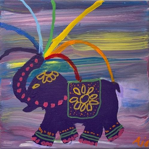 Purple Rainbow Elephant