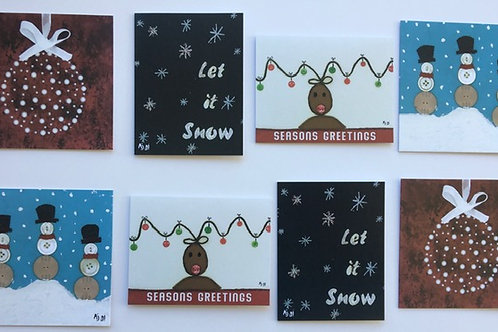 Assortment Pack #1 of 8 Holiday Cards