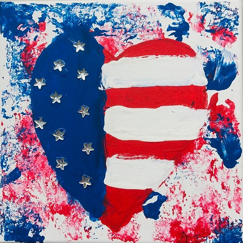 """Love My Country"" - Heart Flag"