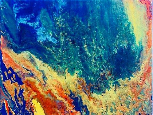 'Colorful hues' Card