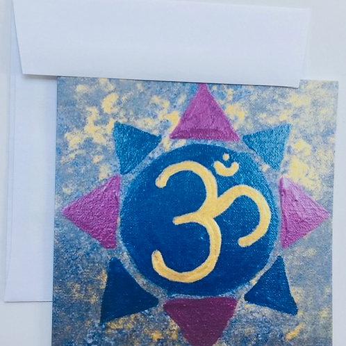 'Om' - Peace card