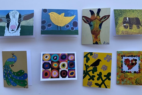 Assorted Rectangle Pre-packed 8-cards Set #4