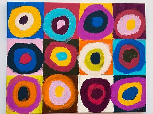 """Cheery Circles and Squares"" - SOLD"