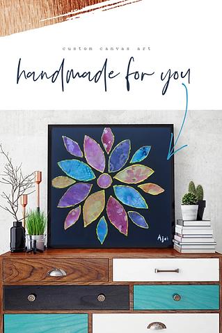 Handmade Floral Canvas Art