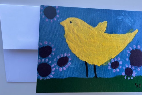 """Yellow Bird"" card"