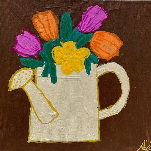 """""""Flowers in a Watering Can"""""""