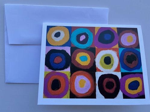 """""""Circles and Squares"""" Card"""