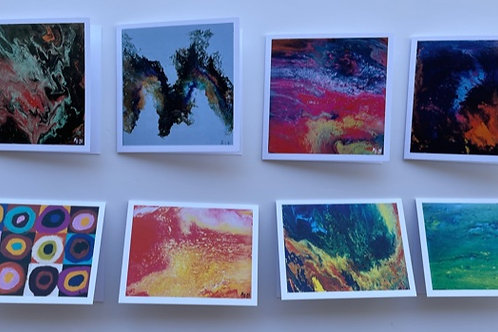 Assorted Abstract Pre-packed 8-cards Set #3