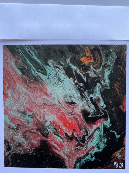 """Volcano"" card"