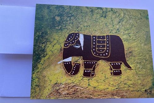 """Elegant elephant"" rectangle card"