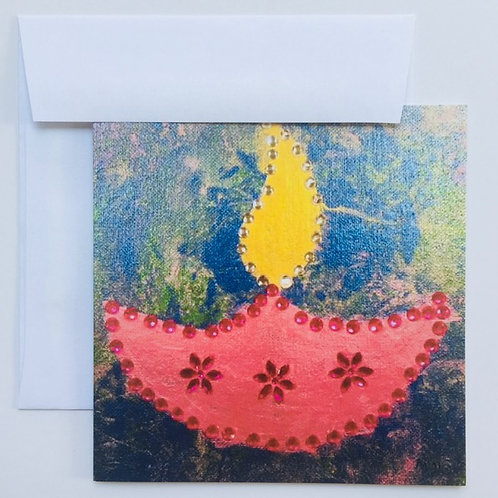 'Diya' - Lamp card