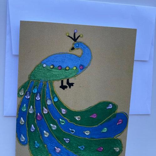 """Graceful Peacock"" card"