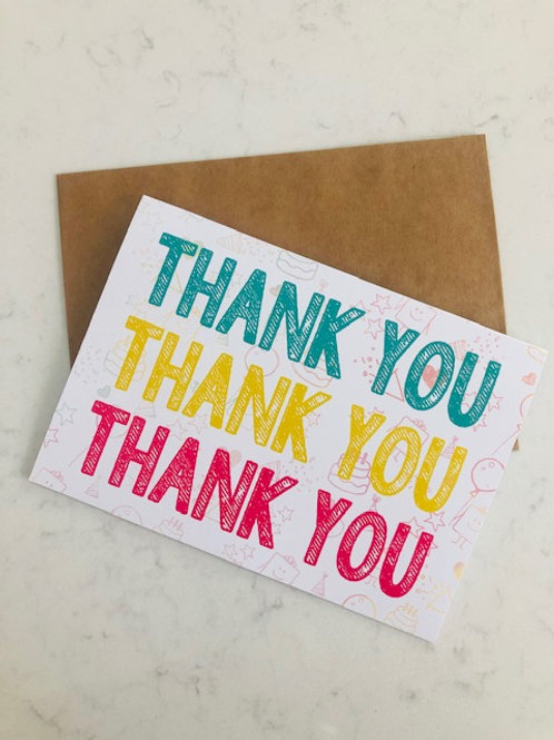 5-Pack Thank You Cards