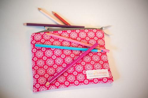 Zipper Pouch--Pink