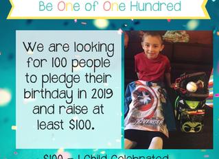 100 Birthday Pledge Challenge