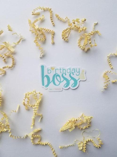 Birthday Boss Sticker/Decal