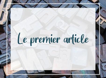 Le premier article