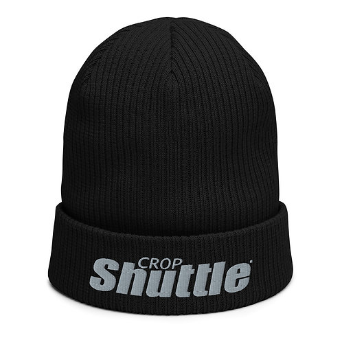 Organic ribbed Crop Shuttle beanie
