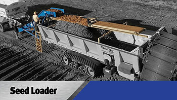 Self loading planter filler on crop cart