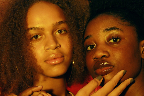 """Naima and Abby T by Saint A for """"Crush on You"""" photoshoot."""