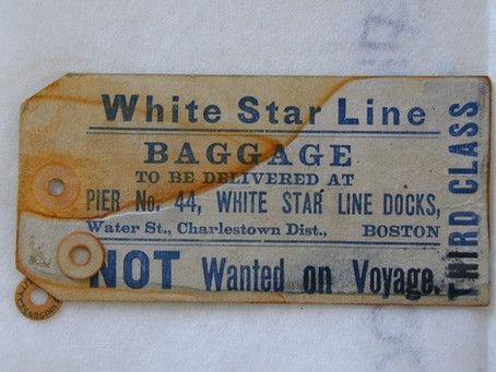 Baggage Tag from the Titanic