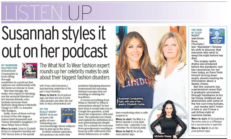 Listen Up podcast column