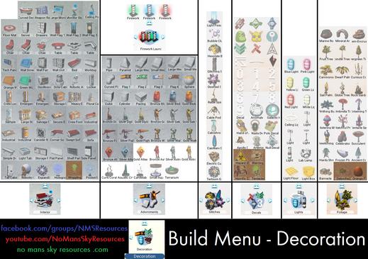 Build Menu - Decoration [Origins 3.0].pn