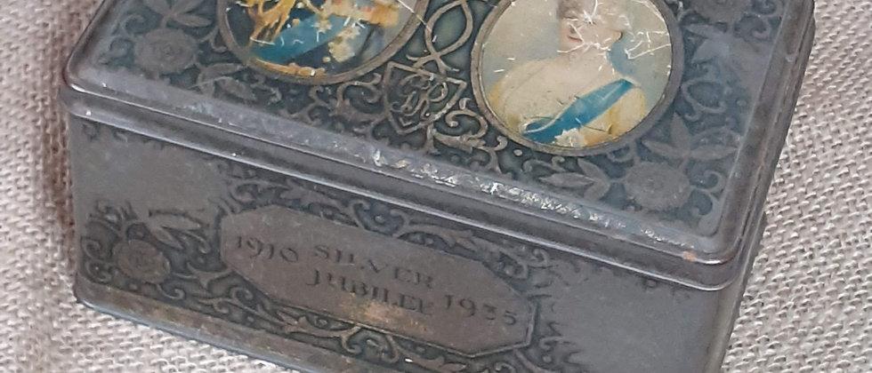 1935 Silver Jubilee Tin
