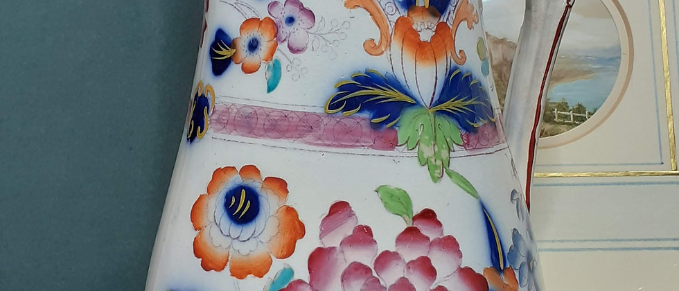 Victorian Imari design jug