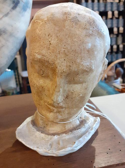 Plaster figure head