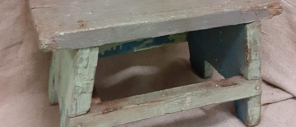 Rustic painted stool