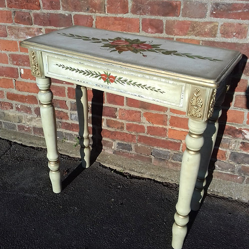 Painted decorative side/hall table