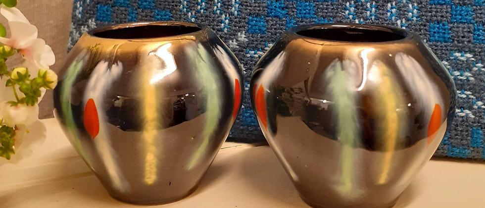 Pair of 1950s posy vases