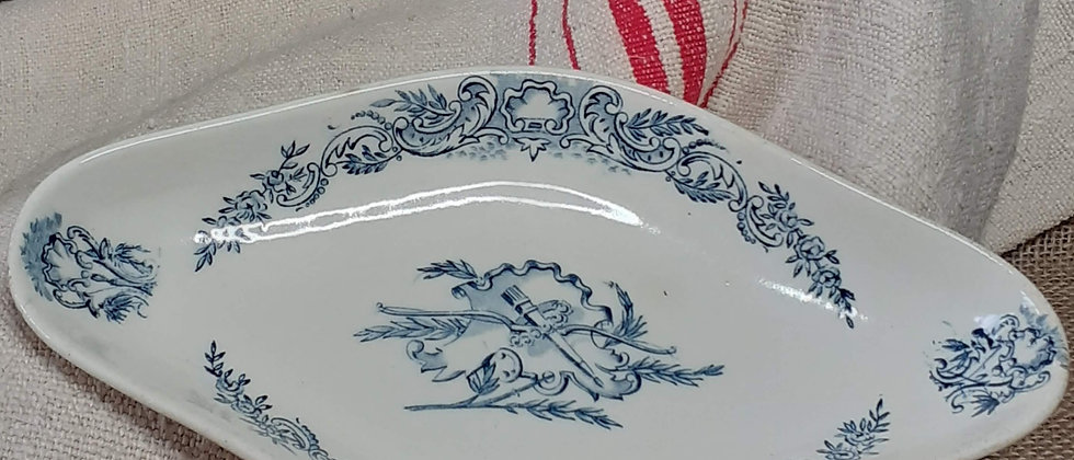 French country diamond dish