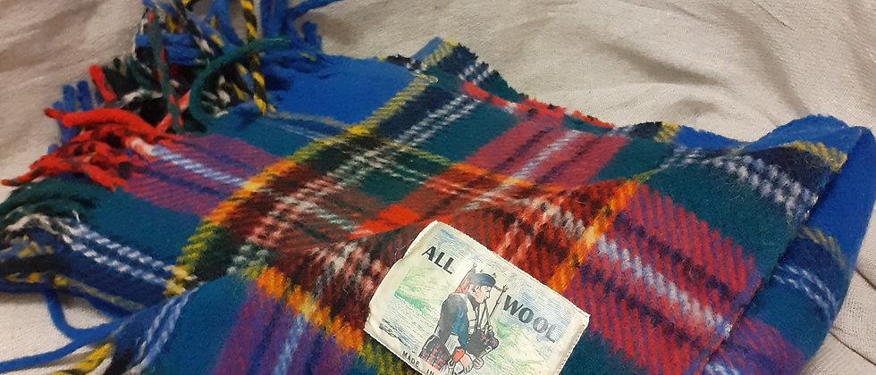 Tartan wool rug