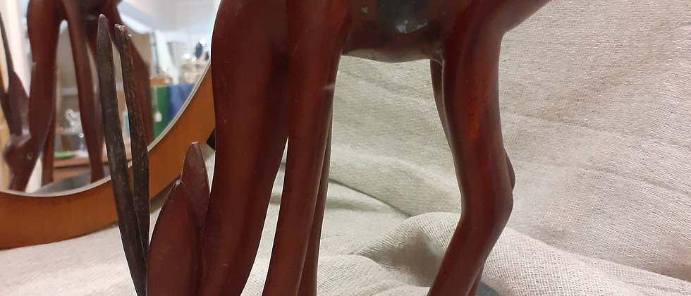 African carved antelope