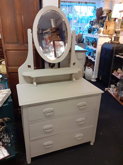 Painted dressing table chest of drawers