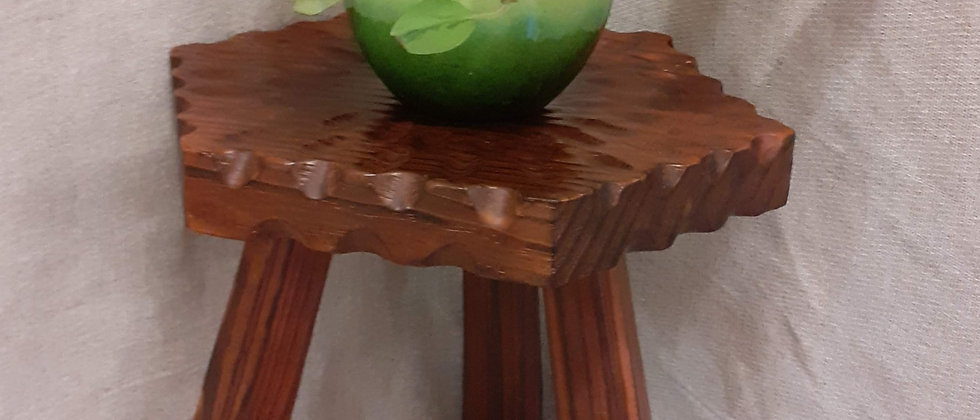 Wooden hexagonal stool