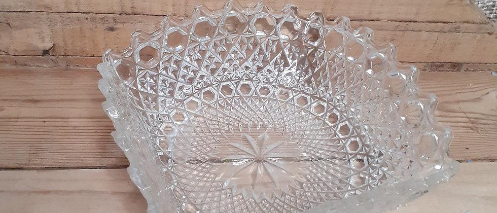 Press glassed desert bowl