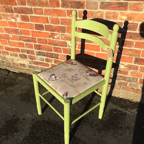 Shabby chic painted kitchen chair