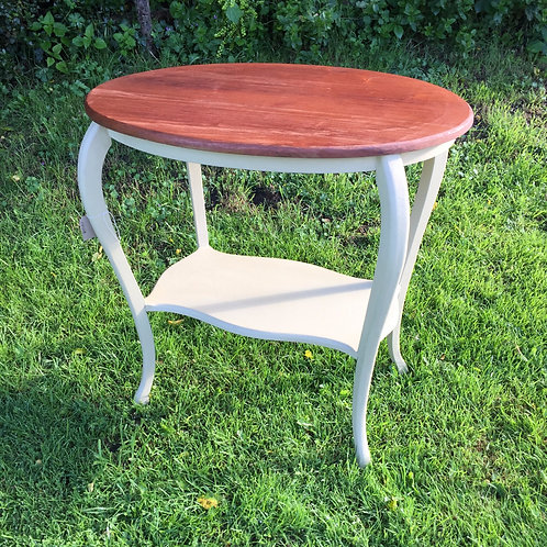 shabby chic oval table