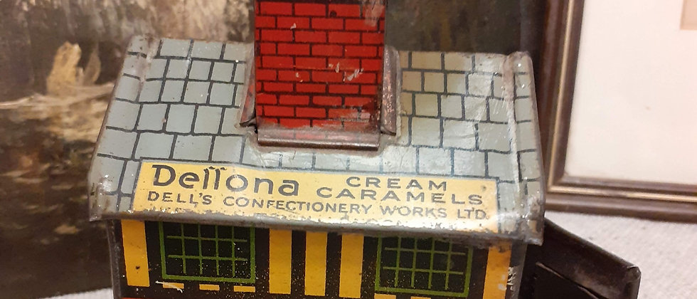 Dellona Caramels tin money box