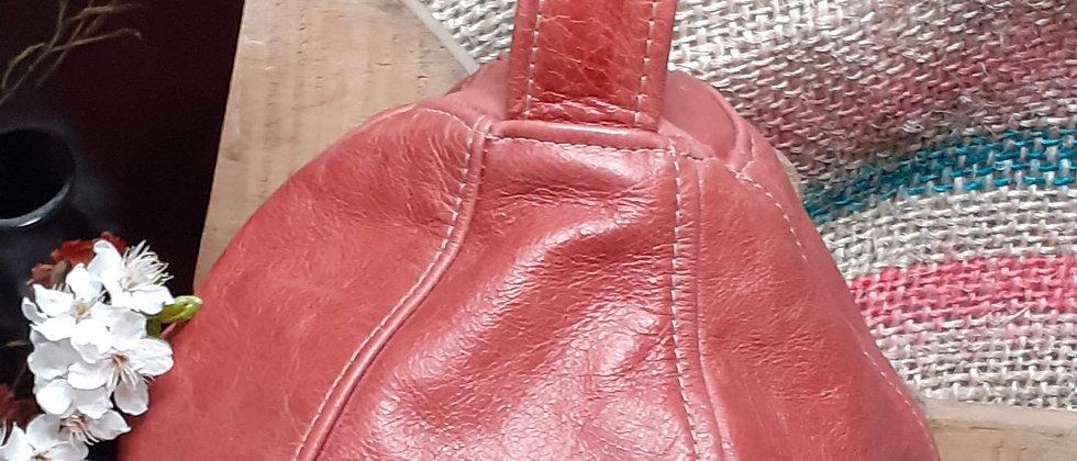 Leather doorstop