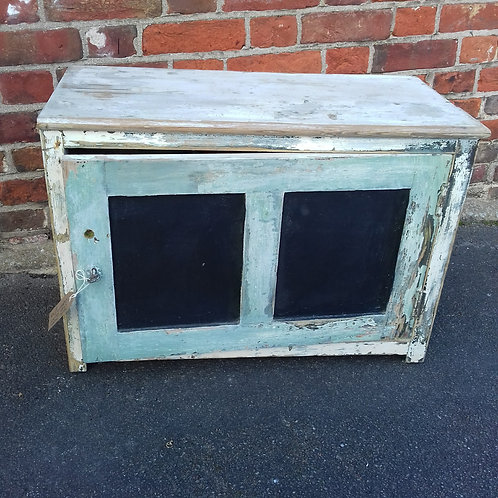 Shabby chic painted cupboard with chippy paint