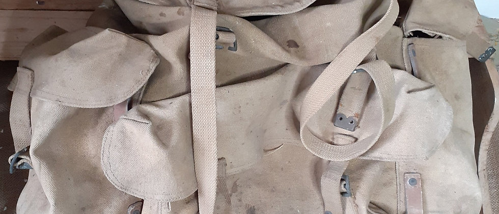 WWII Military Issue Canvas Rucksack